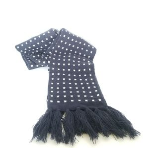 J.crew Ladies Scarf 6ft x 6in Navy Blue